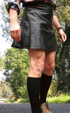 Skirts, men can wear (H&M Leather Skirt)
