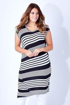Cordelia St Diagonal Stripe Dress - Womens Knee Length Dresses - Birdsnest Online Clothing Store