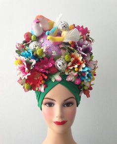 Flora-Fauna-Bird-Fruit-Headdress-Showgirl-Costume-Cabaret