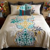 Found it at AllModern - Shangri La Duvet Set Reversible: LOVE THIS! Has the pop of red and the turquoise I want for bedroom.