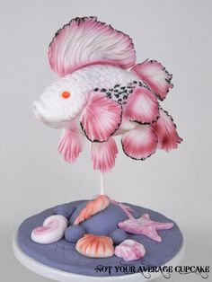 3D Exotic Fish Sculpture - Cake by Sharon A.