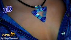 Beaded Pendant. Triangle. 3D Tutorial - YouTube
