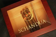 Personalized Humidor Custom Engraved With Gold Filled Script Initial Wood Glass…