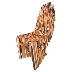 Ian Spencer and industrial designer Cairn Young together form the Yard Sale Project, through which they produce one-of-a-kind pieces of furniture that combine the highly accomplished technical design of Cairn Young with the master craftsmanship of Ian Spencer. The Roccapina III chair challenges the traditional view of what a chair should look like: it has a smooth carved front and a jagged free form back comprised of many types of hardwood, giving the surface a crisp patchwork quality with…