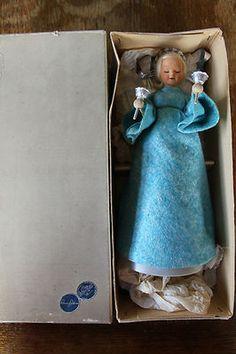 Ronnaug Petterssen Silent Night RARE Boxed Original Felt Clockwork Angel | eBay