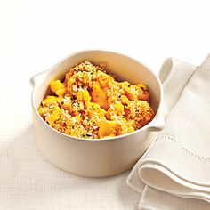 Creamy, Light Macaroni and Cheese made with butternut squash.  My mother makes this recipe occasionally- it's delicious!