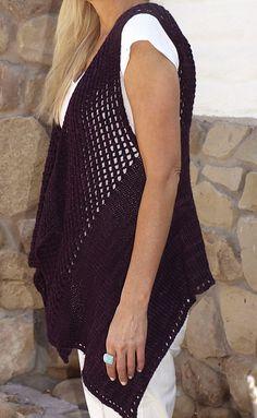 Ravelry: Seine Vest pattern by Susan Venable Crochet Jacket, Knit Vest, Cardigan, Crochet Woman, Crochet Top, Free Crochet, Crochet Scarves, Crochet Clothes, Sleeveless Duster