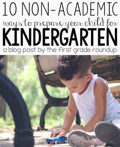 Quit focusing on letters and numbers with your preschooler.  Try these 10 ways to get your kids ready for kindergarten while letting them still be little!