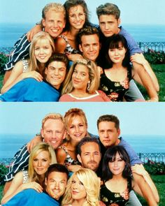 The @the9021bro delivers a crazy #90210 throw back to today.. 26 year span... 1990s Tv Shows, 80 Tv Shows, Old Shows, Beverly Hills 90210, Ian Ziering, Jason Priestley, Jennie Garth, Retro, Mermaid Pictures