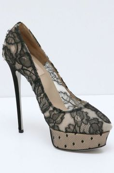 Valentino Black Lace Pump LOVE THESE