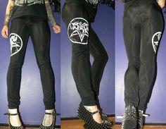 Pentagram leggingsheavy black by PandemoniumClothing on Etsy