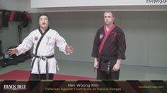 Hapkido vs Front Kick - Han Woong Kim...