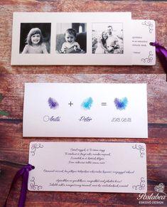 Ujjlenyomatos, fényképes esküvői meghívó- fingerprint wedding invitation w. Homemade Wedding Invitations, Wedding Invitation Kits, Modern Wedding Invitations, Floral Invitation, Wedding Pins, Wedding Trends, Wedding Cards, Diy Wedding, Wedding Wishes