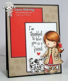 Your Next Stamp - Jessica with her Puppy clear stamp set, Stitched Rectangles die set