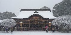雪の太宰府天満宮、水墨画のように美しかった【画像】