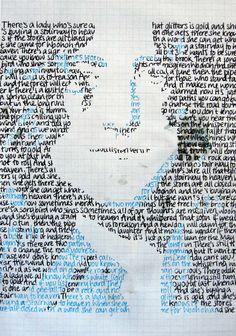 Stairway to heaven lyrics turned into #RobertPlant.