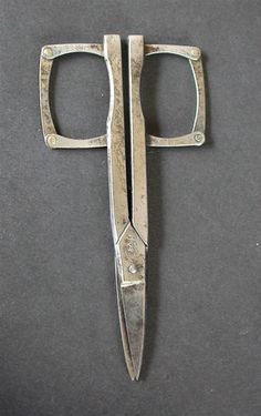 ANTIQUE COWLISHAW SHEFFIELD  FOLDING SEWING SCISSORS PATENTED C 1900