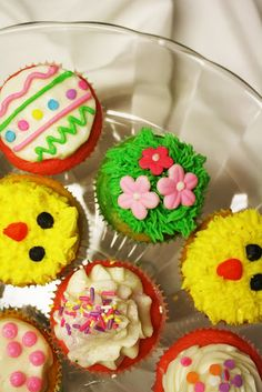 Easter and spring cupcakes