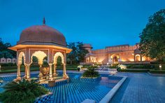 Architecture. The Oberoi Rajvilas, India.