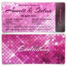 Hochzeitseinladungen - Glamour in Pink  #hochzeit #einladungskarte #hochzeitseinladung #glamour #pink #einladung #papeterie #kartenmachende