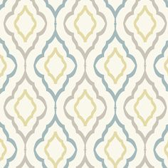 """Product Details from wallpaper pattern """"Diva"""". The incorporation of citrine along with Candice blue..."""