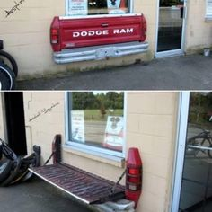 Redneck truck bed bench