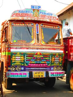 And so much time spent on it. Mode Of Transport, Public Transport, Painted Letters, Painted Signs, Truck Art Pakistan, Weird Cars, Crazy Cars, Ashok Leyland, India