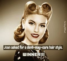 Belly Laughs, Vintage Humor, Bad Hair Day, Adult Humor, Hair Styles, Hair Plait Styles, Hair Makeup, Hairdos, Haircut Styles