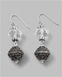 Ginellea Linear Earring/ Something like this only with smaller top beads.
