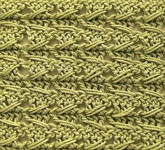 """""""Samurai"""" crochet stitch patternby Daria Nassiboulina  This pattern is available for free.  """"Even a beginner can make this simple but attractive double sided crochet stitch pattern with a great texture. You just need to know a little secret that we..."""
