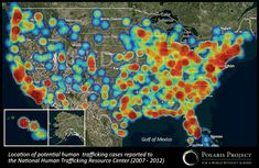 Human trafficking happens everywhere. Just check out this map of human trafficking trends in the United States.