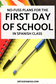 First Day Plans for Spanish I - Srta Spanish