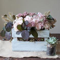 Wooden Crate Box Wedding Centrepiece