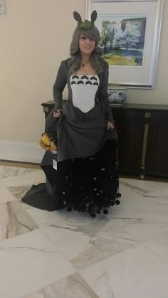 Totoro ball gown cosplay