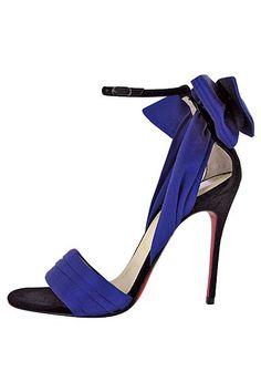 Christian Louboutin blue high heels                                                                                                                                                                                 Mais