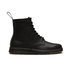 Introducing an iconic Dr. Martens style for the new generation: The Newton. Dr. Martens, Dr Martens 1460, Mens High Top Shoes, Mens High Tops, Leather And Lace, Black Leather, Boots Code, Dr Martens Store, Martens Style