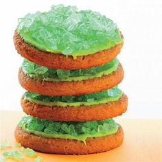Serve up these toxic waste cookies at your Halloween party this year. The kids will gobble them up... if they dare.