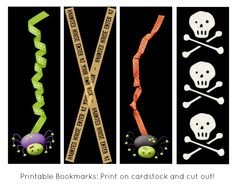free printable halloween bookmarks free halloween printables printable halloween bookmarks - Halloween Book Marks