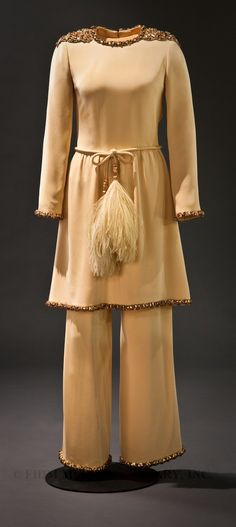 Christian Dior Evening Pajamas, 1968, gift of Betsy Bloomingdale