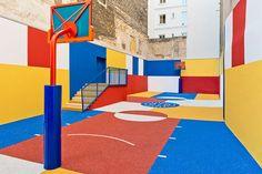 Playground Duperré: le plus beau terrain de basket de Paris se cache à Pigalle