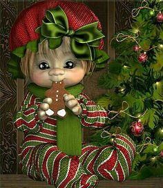 Elf Christmas Decorations, Christmas Decals, Christmas Clipart, Christmas Elf, Christmas Pictures, Christmas Crafts, Christmas Ornaments, Pretty Dolls, Beautiful Dolls