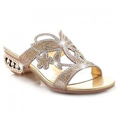 Stunning Crystal Beaded Sandals