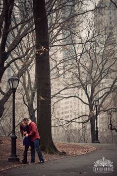 Winter Engagement Session in Central Park - Kamila Harris Photography
