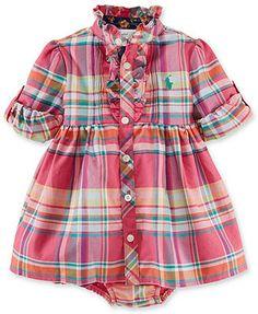 Ralph Lauren Baby Girls' Pink Plaid Dress