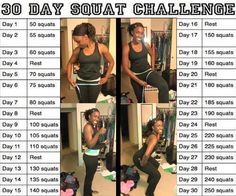 30 Day Squat Challenge....Dont forget to measure your hips & thighs to see the results at the end!