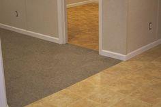 Waterproof flooring for the basement. Waterproofing Basement Walls, Basement Flooring Waterproof, Basement Subfloor, Basement Finishing Systems, Best Flooring For Basement, Dry Basement, Basement Floor Plans, Rustic Basement, Basement Carpet
