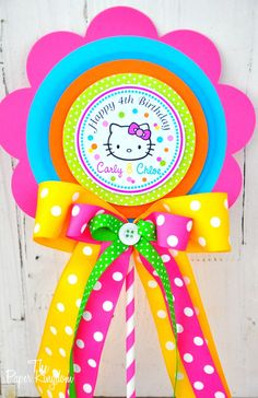 Hello Kitty Deluxe Centerpiece Birthday by thepaperkingdom on Etsy, $13.00
