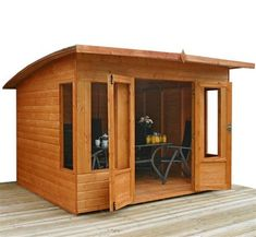 Helios Curved Wooden Summerhouse - 8 x 10