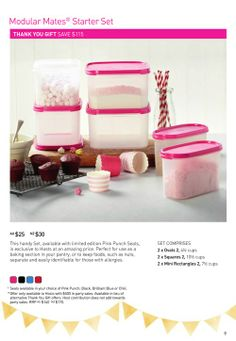 have a party in April 2014 to get the pink modular mate set for just $25!