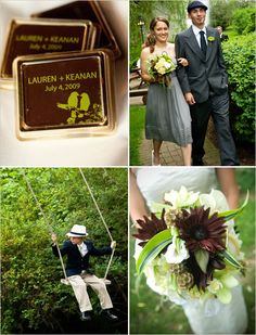 I love everthing here! Great gift idea, love the bridesmaid/groomsmen etire, photography idea, and bouquet